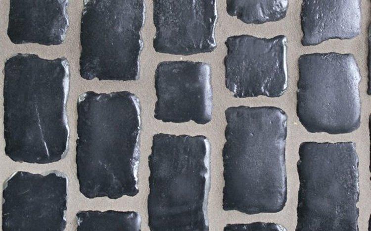 """Pavés Courtstones Natural ép.5,8cm """"BASALT"""""""