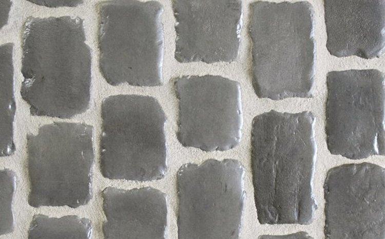 """Pavés Courtstones Natural ép.5,8cm """"PEBBLE GREY"""""""